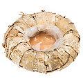 Pot pour plantation en bois de bouleau, nature, 25 cm Ø