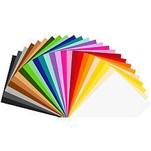 Set de carton teinté & papier à dessin teinté, 50 x 70 cm, 50 pcs.