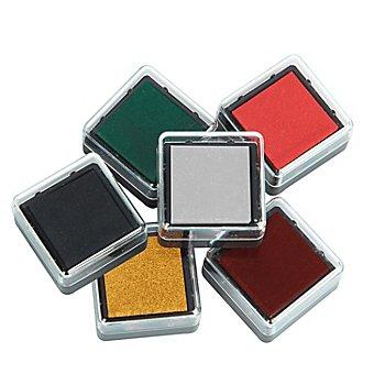 Stempelkissen-Set 'Weihnachten', 2,3 x 2,3 cm, 6 Stück