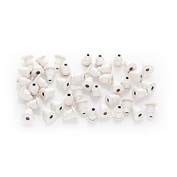 Perlenstopper, weiß, 5 mm, 100 Stück