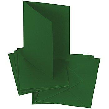 Doppelkartenset, dunkelgrün, A6 / C6, je 50 Stück