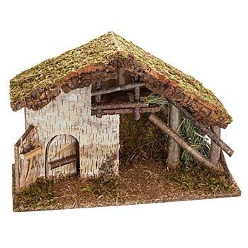 Krippe aus Holz, 50 x 20 x 33 cm