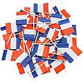 """Piques apéro """"drapeau français"""", 8 cm"""