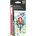 Graphix crayons aquarellables, 12 pcs.