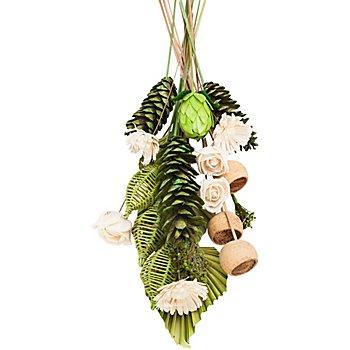 Assortiment pour composition florale funéraire, vert/couleurs naturelles, 21 pièces