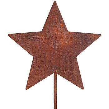 Rost-Stern aus Metall, braun, 18 cm Ø