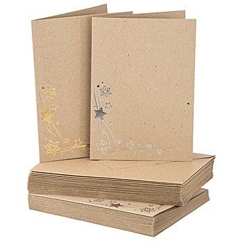 Recyclingkarten-Set 'Weihnachten', A6 / C6, je 20 Stück