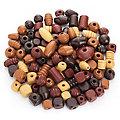 Set de perles en bois, 1 - 2,5 cm, 500 g