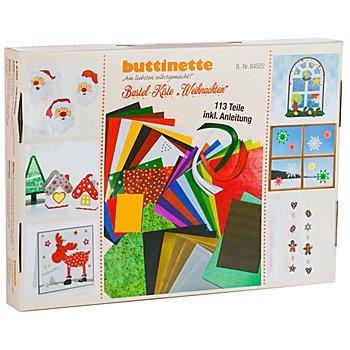 buttinette Bastelpapier-Koffer 'Weihnachten', 113-teilig
