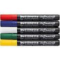 buttinette Stoffmalstifte-Set, für dunkle Stoffe, 5er-Pack