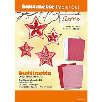 Kit créatif en papier 'étoiles', rouge/blanc