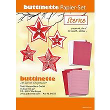 buttinette Papier-Set 'Sterne', rot-weiß, 12 Sterne