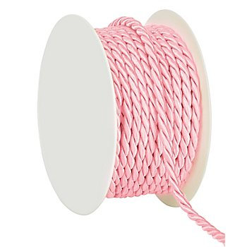 Cordelette, rose, 4 mm, 10 m