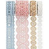 Folia Papierbordüren-Set, pastell, 10 - 25 mm, 4x 1 m