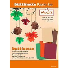 Kit créatif en papier 'automne', marron/rouge/vert
