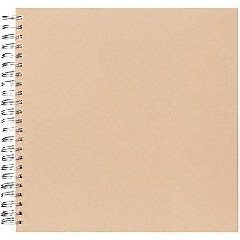 Album en carton, marron, sans fenêtre, 30 x 30 cm, 30 feuilles