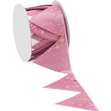 Ruban à froncer 'étoiles', rose/beige, 5 cm, 2,5 m