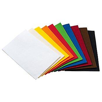 Set éco de feutrine épaisse 'créativité', épaisseur : 4 mm, 20 x 30 cm, couleurs vives