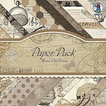 Ursus Bloc de papier 'Good old Time', 20,5 x 20,5 cm, 40 feuilles