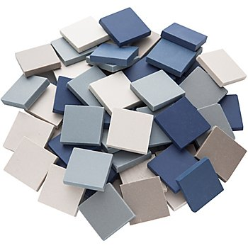 Ceraton Tesselles, tons bleus, 20 x 20 mm, 280 g