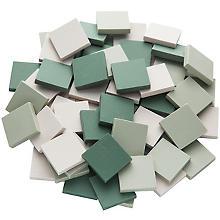 Ceraton-Mosaik grün-mix, 20 x 20 mm, 280 g