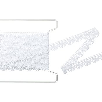 Galon de dentelle aux fuseaux 'arc', blanc, largeur : 1,7 cm, longueur : 5 m