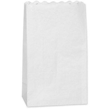 Sachets lumineux unis, blanc, 24,5 x 14 x 8,5 cm, 10 pièces