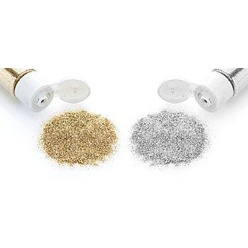 Glitter-Set gold und silber, 40 ml