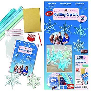 Karen-Marie Quilling-Set 'Kristalle', blau-grün, für 50 Kristalle