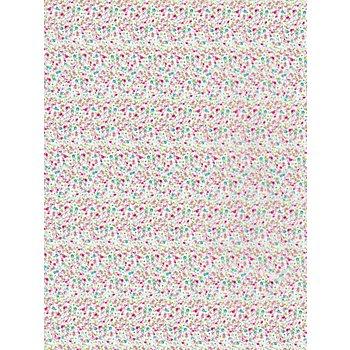 Décopatch-Papier 'kleine Blumen', 39 x 30 cm, 3 Blatt