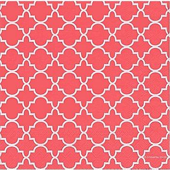 Serviettes en papier 'motif rétro pêche', 33 x 33 cm, 20 pièces