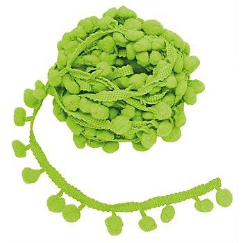 Pompon-Borte, hellgrün, 20 mm, 5 m