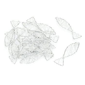 Draht-Fische, silber, 7 x 2 cm, 16 Stück