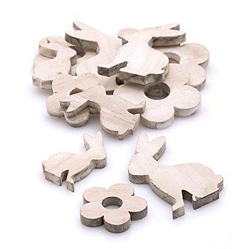 Streuteile 'Hase und Blüte', 3,5 - 6,5 cm, 12 Stück