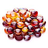 Glas-Nuggets-Mix, rot-gelb-rosé, 15 - 20 mm, 200 g