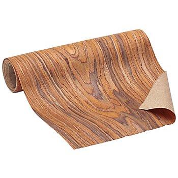Holzfurnier-Stoff, selbstklebend, braun, 20 cm, 1,25 m