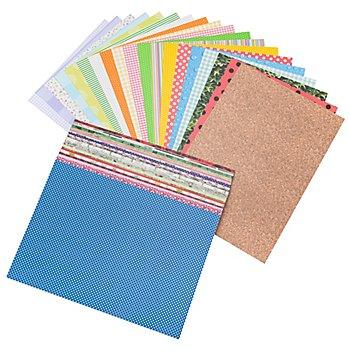 Paquet surprise de carton teinté 'motifs pour toute l'année', A4, 115 feuilles