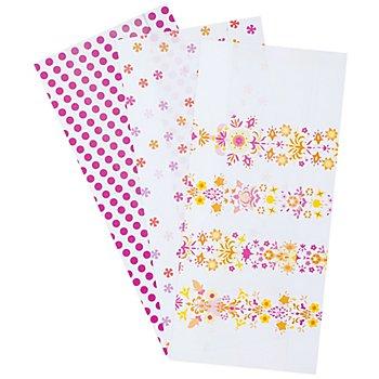 Papiertütenmix-Set 'Frühjahr I', 10 x 22 cm, 27 Stück