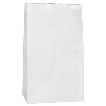 Papiertüten, weiß, 21 x 12 cm, 15 Stück