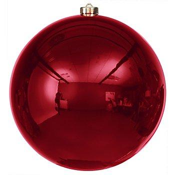 Weihnachtskugel aus Kunststoff, marsala, 20 cm Ø