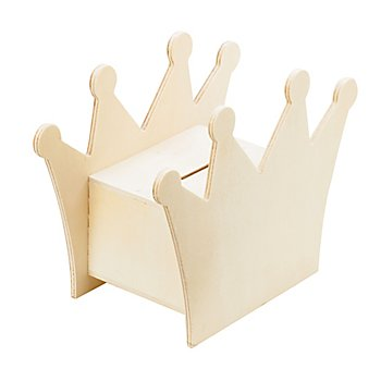 Spardose 'Krone' aus Holz