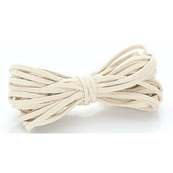 Veloursband, creme, 3 mm, 10 m