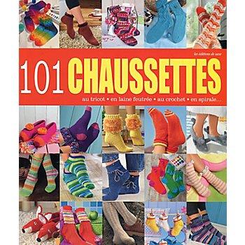 Livre '101 chaussettes au tricot, en laine feutrée, au crochet, en spirale ...'