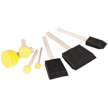 Schwammpinsel-Set, 7 teilig