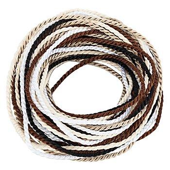 Kordelpaket 'Brauntöne', 2 mm, 5x 2 m