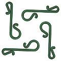 Weihnachtskugel-Aufhänger, grün, 100 Stück