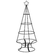 Metall-Weihnachtsbaum, schwarz, 82,5 cm