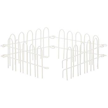 Steckzaun aus Metall, 10,5 x 6 cm, 4 Stück