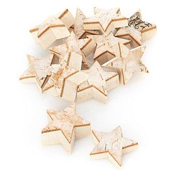 Étoiles en bois de bouleau, 1 - 2 cm, 12 pièces