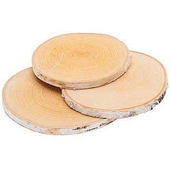 Rondelles en bois de bouleau véritable, 14 - 18 cm Ø, 3 pièces